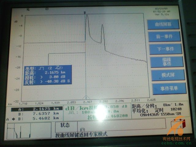 otdr的故障定位模式数据和曲线!